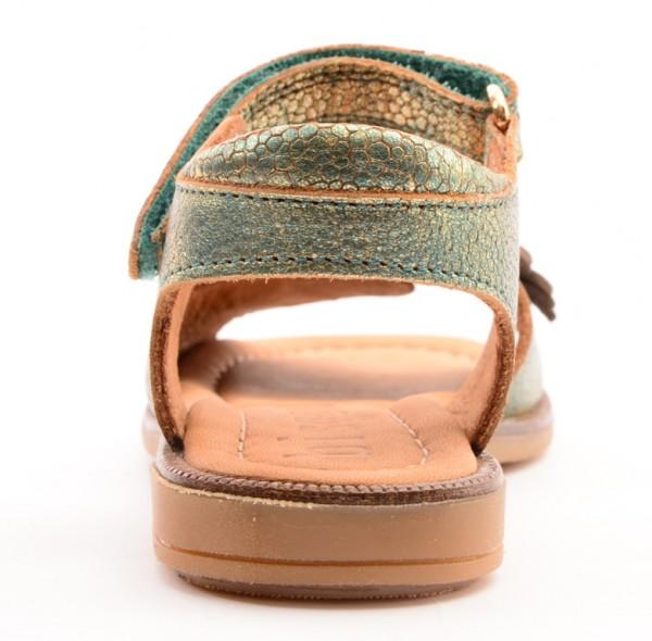 Pipedo Bisgaard 70224 Mädchen Leder Sandale mit Blumen grün