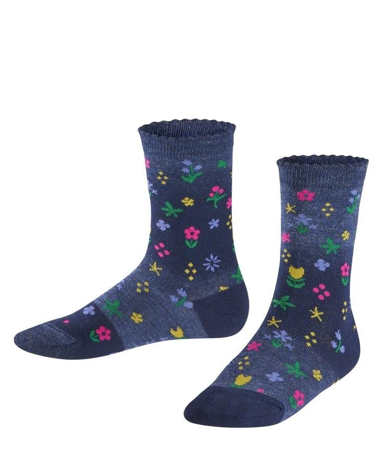 FALKE Denim Flower Kinder Socken