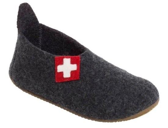Living Kitzbühel 2448 Hausschuhe Schweizer Kreuz