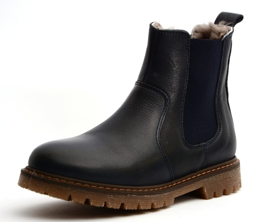 Bisgaard 51919 Chelsea Boot Halbstiefel mit Lammfell