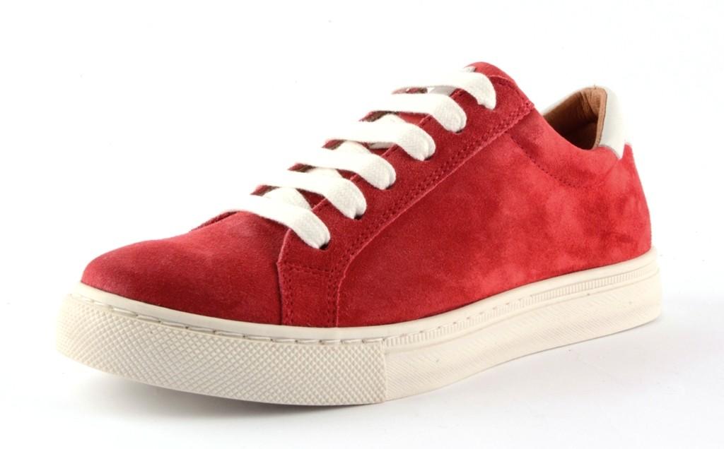 Froddo Teen Leder Sneaker Halbschuhe rot