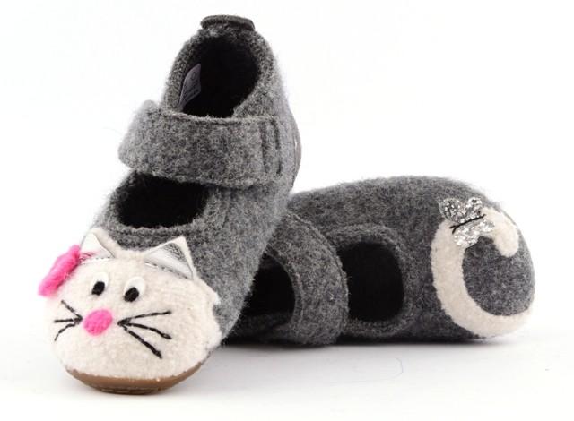 Living Kitzbühel 2402 Baby Ballerina Hausschuhe Katze