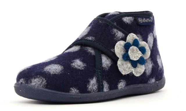 Naturino 7456 Hausschuhe Filz Mädchen Blumen