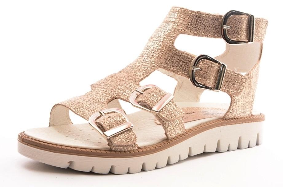 Primigi PAX 7610 Mädchen Leder Klett Sandale gold