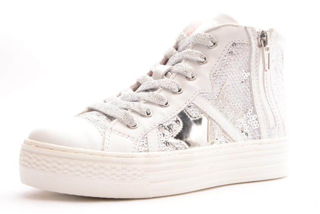 Primigi PSA 7198 Plateau Sneaker mit Pailletten weiß