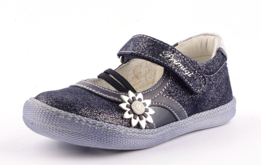 Primigi PTF 7191 Ballerina Mädchen mit Blume blau silber